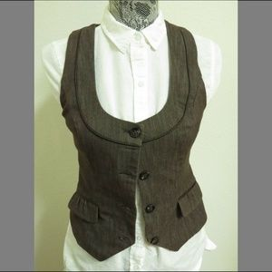 Sz S Brown Racerback Maurices Women #93U Suit Vest